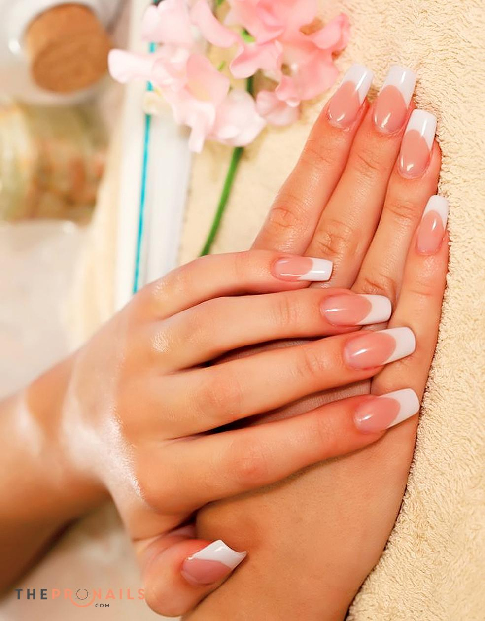 VRS Nails & Spa | Acrylic with White Tips Fill In